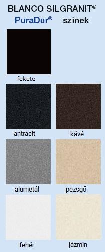 BLANCO SilGranit színek