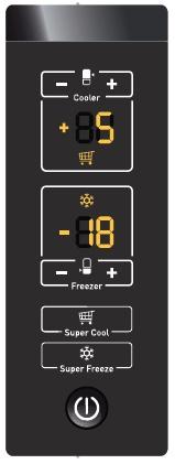 Külön szabályozható hűtő és fagyasztótér