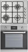 SILVERLINE CARET 60SE - BO6007X01 Beépíthető sütő gázfőzőlap szett inox