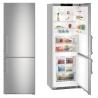 LIEBHERR CBNef 5715 Alulfagyasztós kombinált hűtő SmartSteel inox ajtó, ezüst oldalak