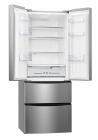 CANDY CCMN 7182 IXS/1 Amerikai 2 ajtós 2 fiókos alulfagyasztós hűtő inox/ezüst