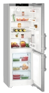 LIEBHERR Cef 3425 Alulfagyasztós kombinált hűtő SmartSteel inox ajtó, ezüst oldalak