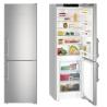 LIEBHERR Cef 3525 Alulfagyasztós kombinált hűtő SmartSteel inox ajtó, ezüst oldalak