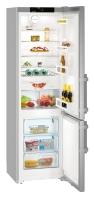 LIEBHERR Cef 3825 Alulfagyasztós kombinált hűtő SmartSteel inox ajtó, ezüst oldalak
