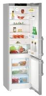 LIEBHERR Cef 4025 Alulfagyasztós kombinált hűtő SmartSteel inox ajtó, ezüst oldalak