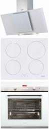 CATA CERES 600 TCV3 fehér - IB 604 WH - CDP 780 AS WH Beépíthető sütő indukciós főzőlap páraelszívó szett fehér üveg