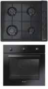 CANDY CLG 64 SPN - FCP 502 N Beépíthető sütő gázfőzőlap szett fekete