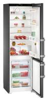 LIEBHERR CNbs 4015 Alulfagyasztós kombinált hűtő BlackSteel inox ajtó, inox oldalak