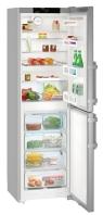 LIEBHERR CNef 3915 Alulfagyasztós kombinált hűtő SmartSteel inox ajtó, ezüst oldalak