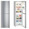 LIEBHERR CNel 4213 Alulfagyasztós kombinált hűtő inox hatású ajtó, ezüst oldalak