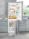 LIEBHERR CNel 4313 Alulfagyasztós kombinált hűtő inox hatású ajtó, ezüst oldalak