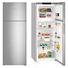 LIEBHERR CTNef 5215 Felülfagyasztós kombinált hűtő inox ajtó, ezüst oldalak