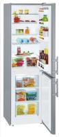 LIEBHERR CUef 3311 Alulfagyasztós kombinált hűtő SmartSteel inox ajtó, ezüst oldalak