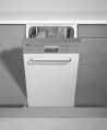 TEKA DW 455S Kezelőszervig beépíthető mosogatógép inox kezelő