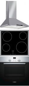 BOSCH DWW06W450 - PKE645D17E - HBN439E4 Beépíthető sütő üvegkerámia főzőlap páraelszívó szett inox