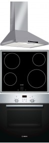 BOSCH DWW06W850 - PKE645D17E - HBN439E4 Beépíthető sütő üvegkerámia főzőlap páraelszívó szett inox