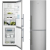 ELECTROLUX EN 3453 MOX Alulfagyasztós kombinált hűtő inox ajtó - szürke oldalak