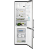 ELECTROLUX EN 3854 NOX Alulfagyasztós kombinált hűtő inox ajtó - szürke oldalak
