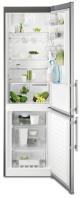 ELECTROLUX EN 3855 MFX Alulfagyasztós kombinált hűtő inox ajtó - szürke oldalak