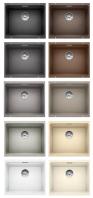 BLANCO ETAGON 500-U Pult alá építhető gránit mosogatótálca antracit, palaszürke, alumetál, gyöngyszürke, fehér, jázmin, pezsgő, tartufo, muskat, kávé