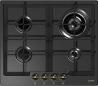 GORENJE G 6N50 RBR Rusztikus Beépíthető gázfőzőlap Matt fekete/arany