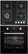 NODOR GCS 316 - D 7008 DT BK Beépíthető sütő üveg-gázfőzőlap szett fekete