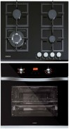 NODOR GCS 316 - DECOR 700 DT AC BK Beépíthető sütő üveg-gázfőzőlap szett fekete