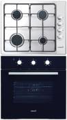 CATA GI 6004 X - LC 860 BK Beépíthető sütő gázfőzőlap szett fekete/inox