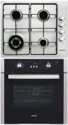 CATA GI 6031 X - LC 890 D BK Beépíthető sütő gázfőzőlap szett fekete/inox