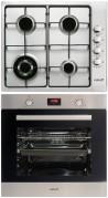 CATA GI 6031 X - LCMD 8008 X Beépíthető sütő gázfőzőlap szett fekete/inox