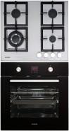NODOR GXS 316 - D 7008 DT BK Beépíthető sütő gázfőzőlap szett fekete