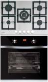 NODOR GXS 417 - DECOR 700 DT AC BK Beépíthető sütő gázfőzőlap szett fekete