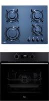 TEKA HF LUX 60 4G - HSB 630 BK Beépíthető sütő üveg-gázfőzőlap szett fekete/inox