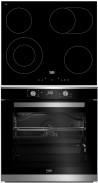 BEKO HIC-64403T - BIM-35300XMS Beépíthető sütő üvegkerámia főzőlap szett fekete/inox