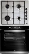 BEKO HIZG-64120SX - BIM-35300XMS Beépíthető sütő gázfőzőlap szett