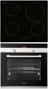 CATA IB 6104 BK - CDP 780 AS BK Beépíthető sütő indukciós főzőlap szett fekete/inox