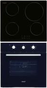 CATA IB 6104 BK - LC 860 BK Beépíthető sütő indukciós főzőlap szett fekete/inox