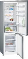 SIEMENS KG39NXI35 Alulfagyasztós kombinált hűtő nemesacél ajtók, króm-inox oldalfalak
