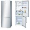 BOSCH KGE49BI40 Alulfagyasztós kombinált hűtő nemesacél ajtók, króm-inox oldalfalak