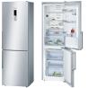 BOSCH KGN36HI32 Alulfagyasztós kombinált hűtő nemesacél ajtók, króm-inox oldalfalak