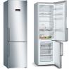 BOSCH KGN39XI38 Alulfagyasztós kombinált hűtő nemesacél ajtók, króm-inox oldalfalak