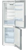 BOSCH KGV36VL32S Alulfagyasztós kombinált hűtő inoxlook ajtók, króm-inox oldalfalak