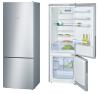 BOSCH KGV58VL31S Alulfagyasztós kombinált hűtő inoxlook ajtók, króm-inox oldalfalak