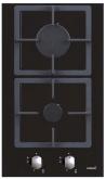CATA LCI 302 Beépíthető dominó üveg-gázfőzőlap fekete üveg
