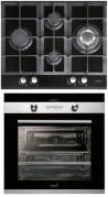 CATA LCI 631 A BK - CD 760 AS BK Beépíthető sütő üveg-gázfőzőlap szett fekete/inox
