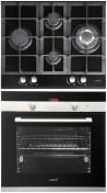 CATA LCI 631 A BK - CDP 780 AS BK Beépíthető sütő üveg-gázfőzőlap szett fekete/inox