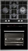 CATA LCI 631 A BK - HGR 110 AS BK Beépíthető sütő üveg-gázfőzőlap szett fekete/inox