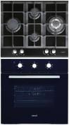 CATA LCI 631 A BK - LC 860 BK Beépíthető sütő üveg-gázfőzőlap szett fekete/inox