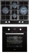 CATA LCI 631 A BK - MD 7009 BK Beépíthető sütő üveg-gázfőzőlap szett fekete/inox