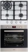 CATA LGI 631 WOK - LCMD 8008 X Beépíthető sütő gázfőzőlap szett fekete/inox